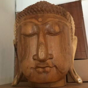 Beautiful Carved Wooden Buddha Head