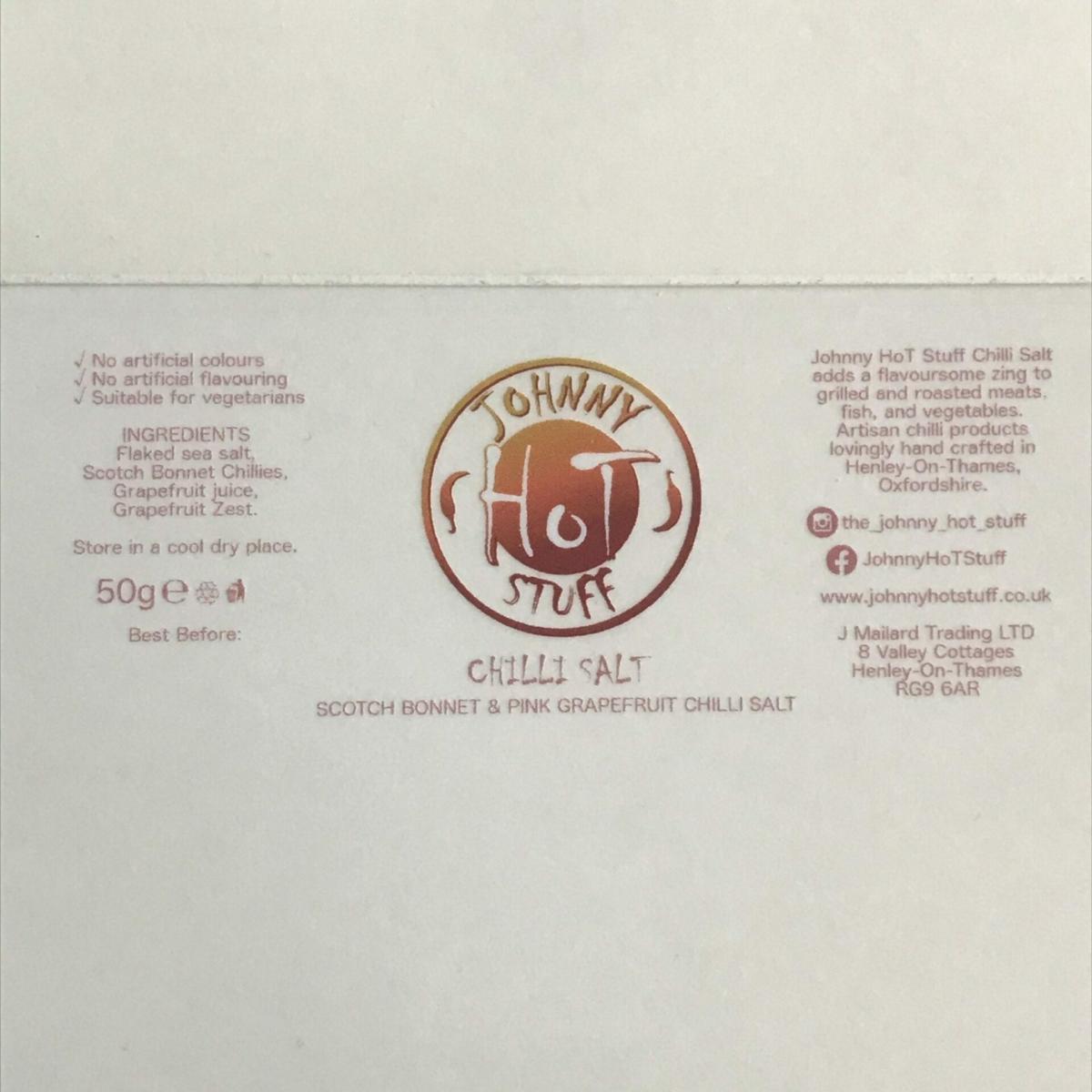 JHS Scotch Bonnet & Pink Grapefruit Label