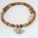 Picasso Jasper Bumble Bee Necklace