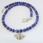 Lapis Lazuli Bumble Bee Necklace